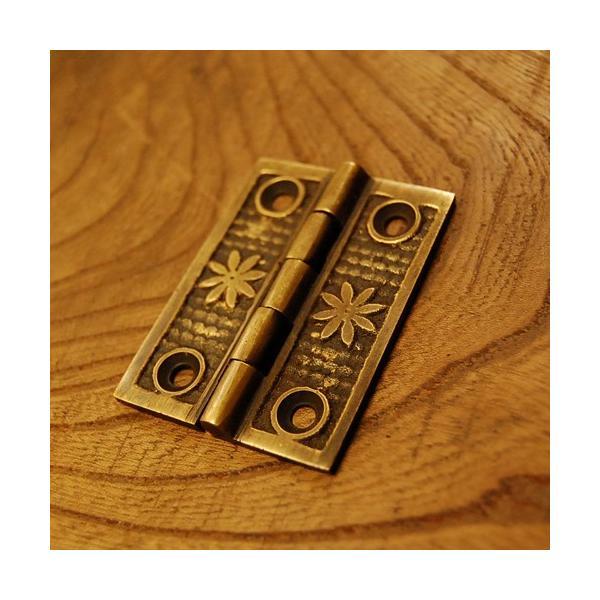 ブラス蝶番448 ヒンジ 真鍮・・・インドネシア直輸入・インテリアパーツ・古色仕上げ|artcrew|03