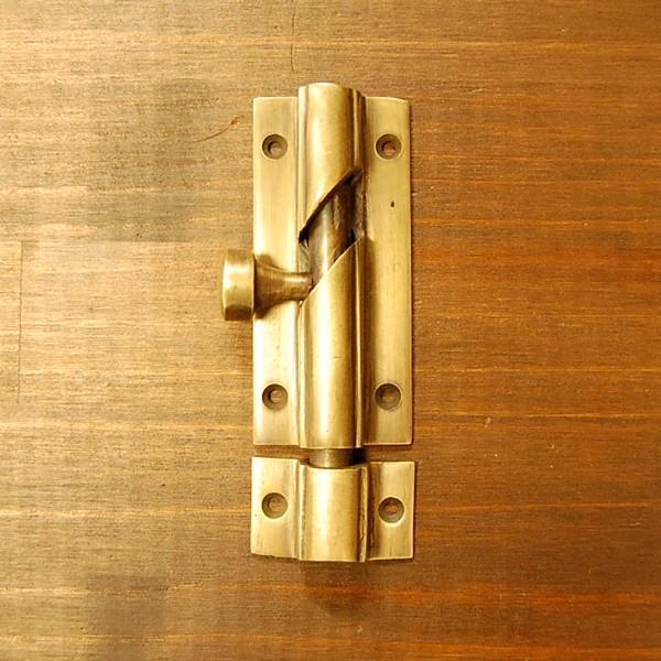 ブラス錠前449 真鍮金具・フランス落とし インドネシア直輸入・インテリアパーツ・古色仕上げ|artcrew