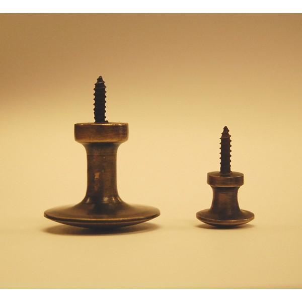 取っ手 ノブ スクリューピン 真鍮把手 ブラス おしゃれ インテリアパーツ アンティーク仕上げ 古色仕上げ DIY 付け替え 修理 家具部品 インドネシア直輸入|artcrew|05
