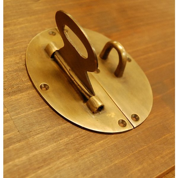 ブラス錠前474 真鍮金具・・・インドネシア直輸入・インテリアパーツ・古色仕上げ|artcrew|04