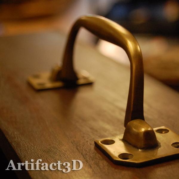 ブラス取手477 真鍮把手・・・インドネシア直輸入・インテリアパーツ・古色仕上げ|artcrew|06