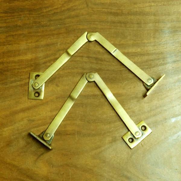ブラスヒンジ479 蝶番 真鍮 家具部品 DIY 修理 加工 インドネシア直輸入 インテリアパーツ アンティーク仕上げ 古色仕上げ|artcrew