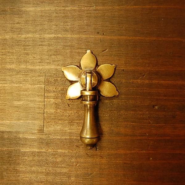 ブラス取っ手 真鍮把手 インドネシア直輸入・インテリアパーツ・古色仕上げ アンティーク仕上げ 家具修理 家具部品 DIY|artcrew