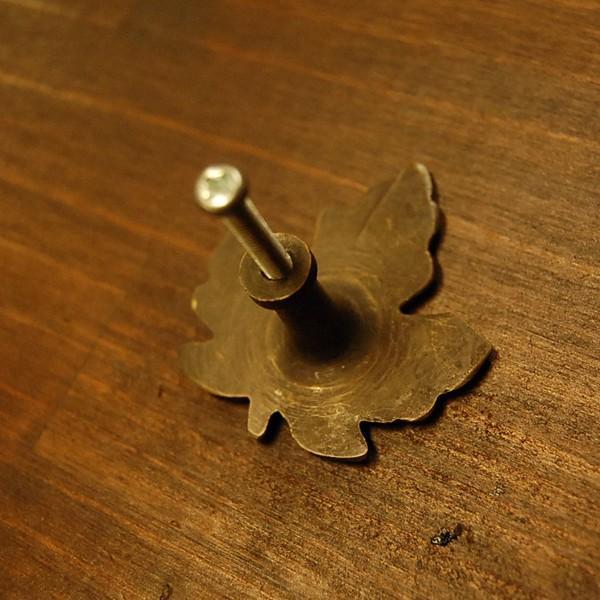 ブラス取っ手 カエデ型 リーフ型 ノブ 真鍮把手 インドネシア直輸入・インテリアパーツ・アンティーク仕上げ・古色仕上げ DIY 付け替え 修理 家具部品|artcrew|04