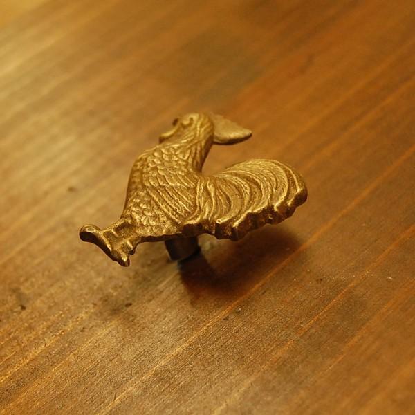 ブラス取っ手 真鍮把手 鶏型 にわとり インドネシア直輸入・インテリアパーツ・古色仕上げ アンティーク仕上げ 家具部品 修理 加工|artcrew|02