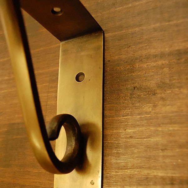 ブラスブラケット 真鍮棚受・インドネシア直輸入・インテリアパーツ・古色仕上げ DIY|artcrew|03