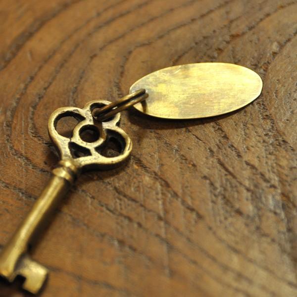 ブラス鍵538 真鍮金具 インドネシア直輸入 インテリアパーツ 古色仕上げ アクセサリーパーツ|artcrew|03