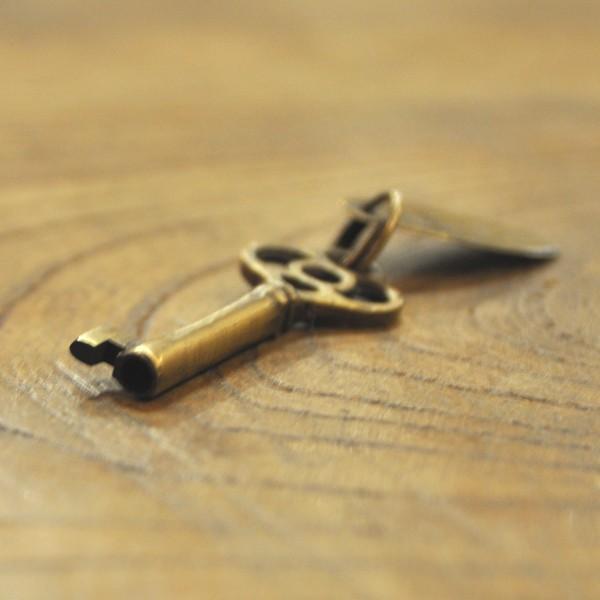 ブラス鍵538 真鍮金具 インドネシア直輸入 インテリアパーツ 古色仕上げ アクセサリーパーツ|artcrew|04