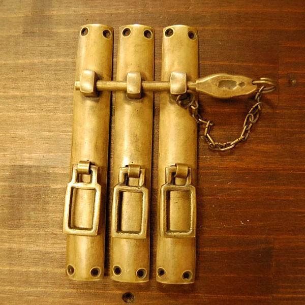 ブラス錠前544 真鍮金具・・・インドネシア直輸入・インテリアパーツ・古色仕上げ|artcrew