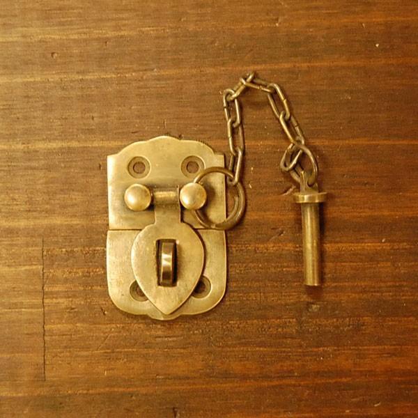 ブラス錠前545 真鍮金具・・・インドネシア直輸入・インテリアパーツ・古色仕上げ artcrew 02