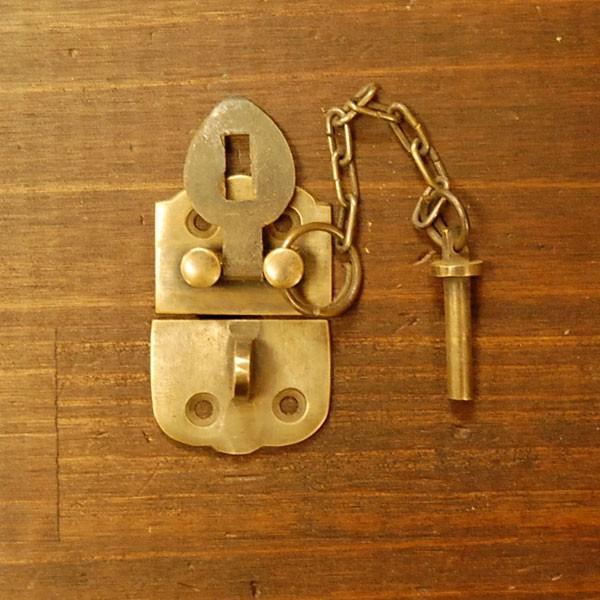 ブラス錠前545 真鍮金具・・・インドネシア直輸入・インテリアパーツ・古色仕上げ artcrew 03