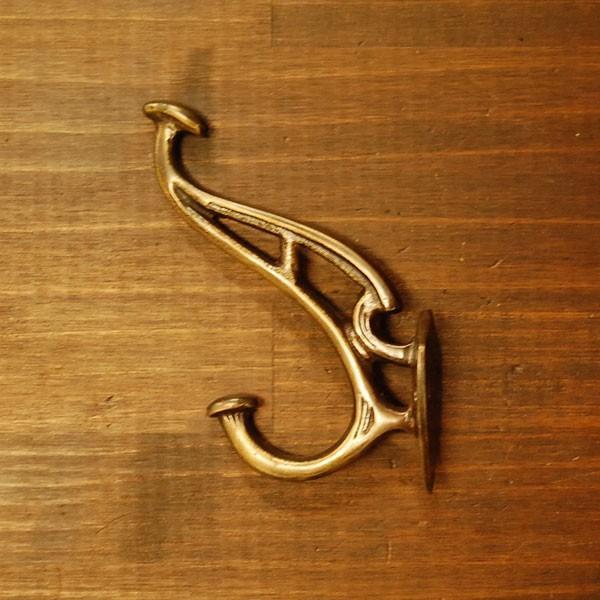 ブラスフック546 真鍮・・・インドネシア直輸入・インテリアパーツ・古色仕上げ|artcrew|02