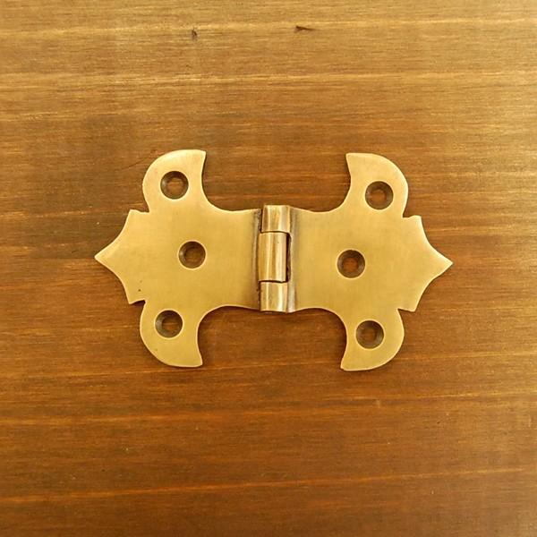 ブラス蝶番551 ヒンジ 真鍮・・・インドネシア直輸入・インテリアパーツ・古色仕上げ artcrew