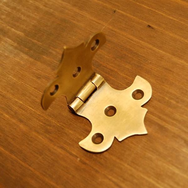 ブラス蝶番551 ヒンジ 真鍮・・・インドネシア直輸入・インテリアパーツ・古色仕上げ artcrew 03