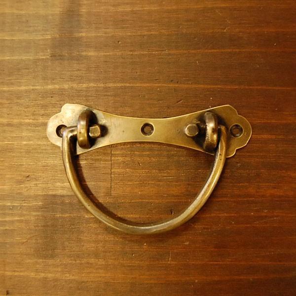 取っ手 真鍮把手 ブラス バッグハンドル おしゃれ 引き出し インテリアパーツ アンティーク仕上げ 古色仕上げ DIY 付け替え 修理 家具部品 インドネシア直輸入