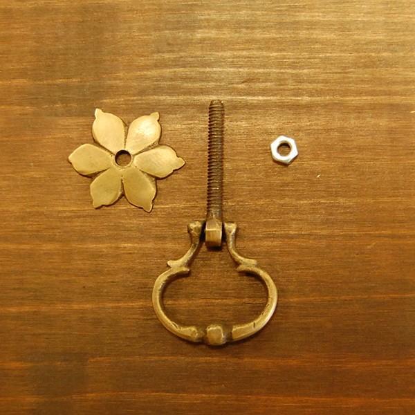 ブラス取っ手 真鍮把手 インドネシア直輸入・インテリアパーツ・古色仕上げ アンティーク仕上げ 家具修理 家具部品 DIY artcrew 05