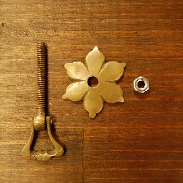 ブラス取っ手 真鍮把手 インドネシア直輸入・インテリアパーツ・古色仕上げ アンティーク仕上げ 家具修理 家具部品 DIY artcrew 04