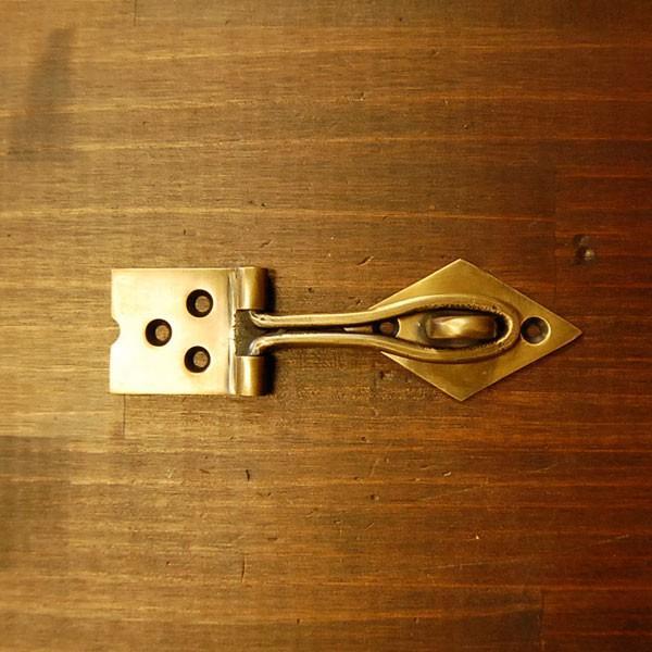 ブラス錠前572 真鍮金具 扉金具 インドネシア直輸入 インテリアパーツ アンティーク仕上げ 古色仕上げ DIY 家具部品 住まいづくり 日曜大工|artcrew