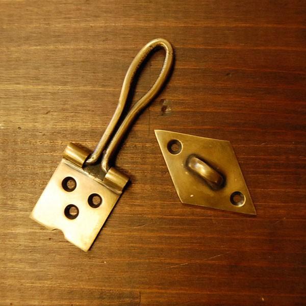 ブラス錠前572 真鍮金具 扉金具 インドネシア直輸入 インテリアパーツ アンティーク仕上げ 古色仕上げ DIY 家具部品 住まいづくり 日曜大工|artcrew|04