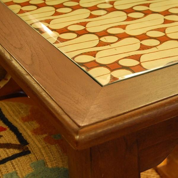 USEDダイニングテーブル130ガラス・4人掛け・チーク無垢材・組立式|artcrew|03