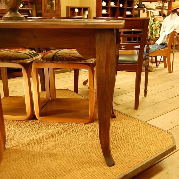 USEDダイニングテーブル130ガラス・4人掛け・チーク無垢材・組立式|artcrew|04