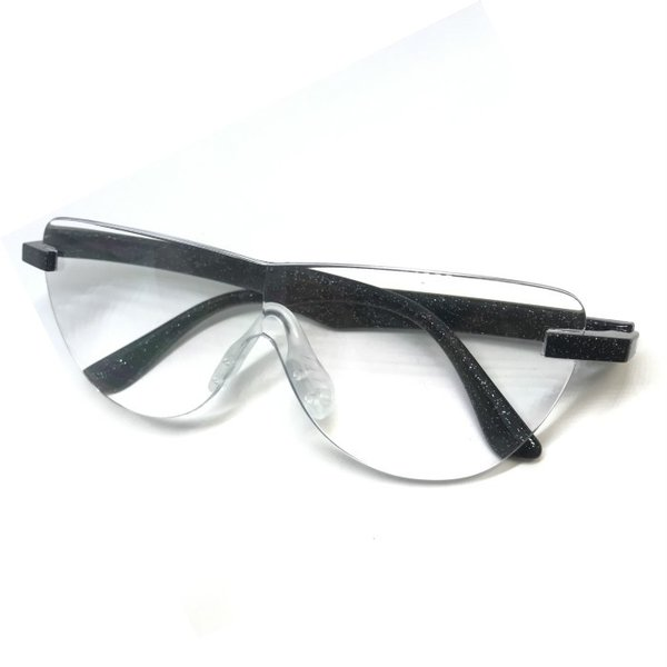 メガネ型 拡大鏡 ルーペ 倍率1.65 クリアレンズ