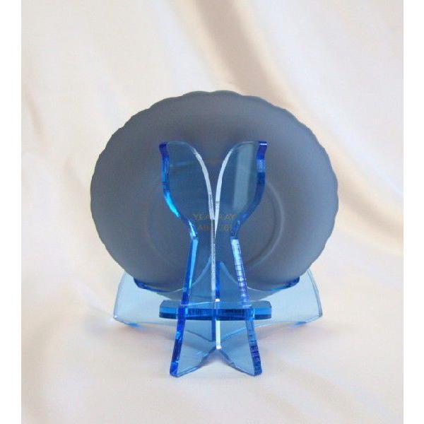 皿立てニュープレートスタンドPS-16AB(アクリルブルー皿立て)|artesse-store|03