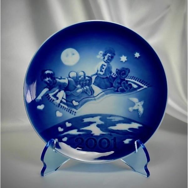天使のお皿立て AP-1522-Br (皿たて・ガラス色透明ブルー)|artesse-store|02