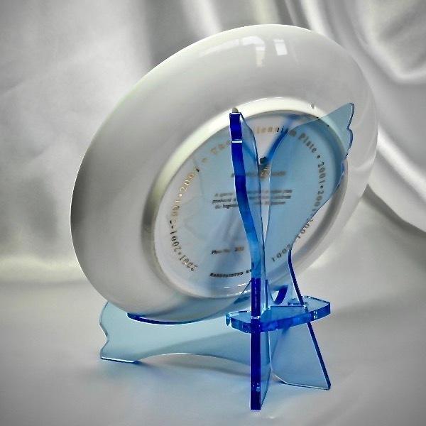天使のお皿立て AP-1522-Br (皿たて・ガラス色透明ブルー)|artesse-store|04