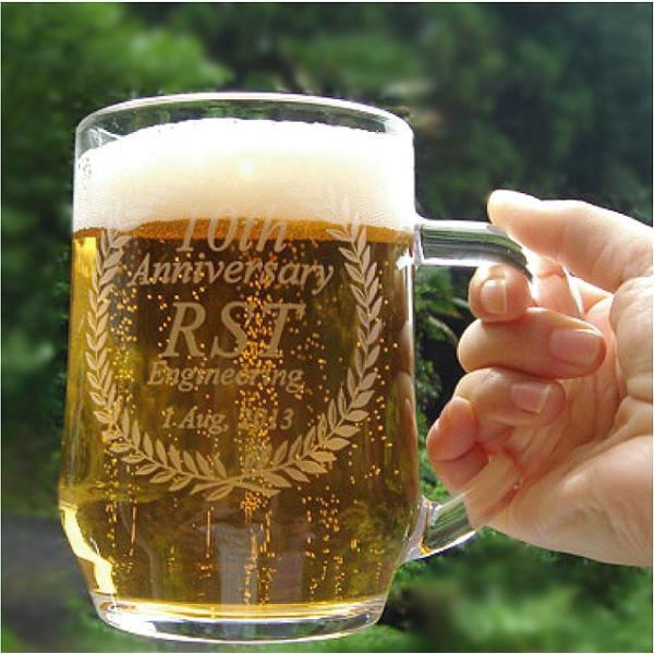 名入れ ガラス ビールジョッキ ...