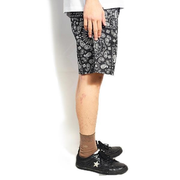 クックマン ショートパンツ COOKMAN CHEF SHORT PANTS PAISLEY -BLACK- 231-01884|artif|02