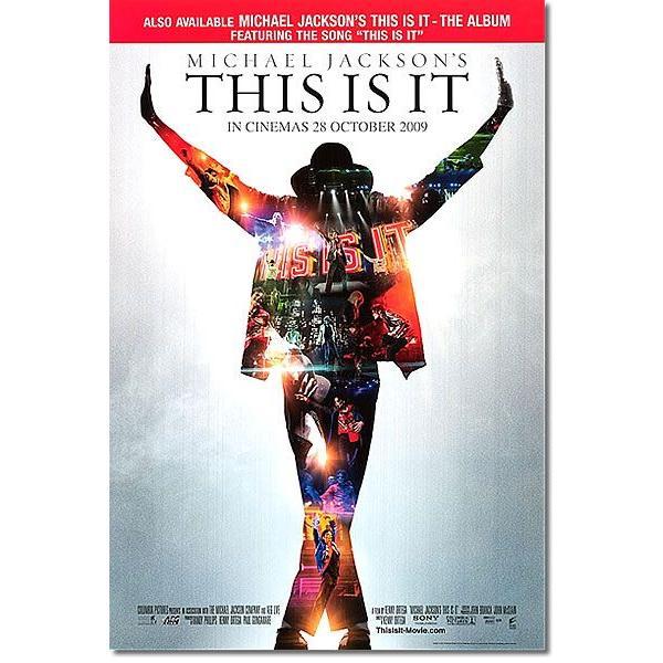 映画ポスター マイケルジャクソン THIS IS IT グッズ /赤グッズ /両面印刷グッズ /光沢あり|artis