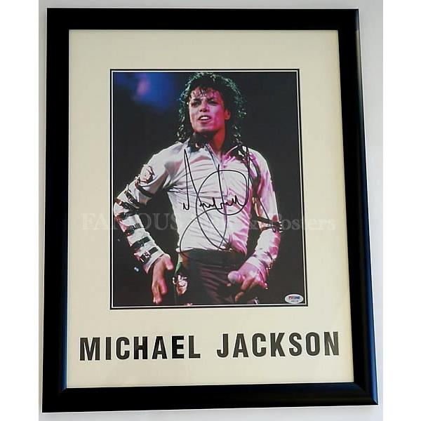 直筆サイン入り写真 スリラー ABC 等 マイケルジャクソン Michael Jackson グッズ /ブロマイド オートグラフ /鑑定済 フレーム付き|artis|02