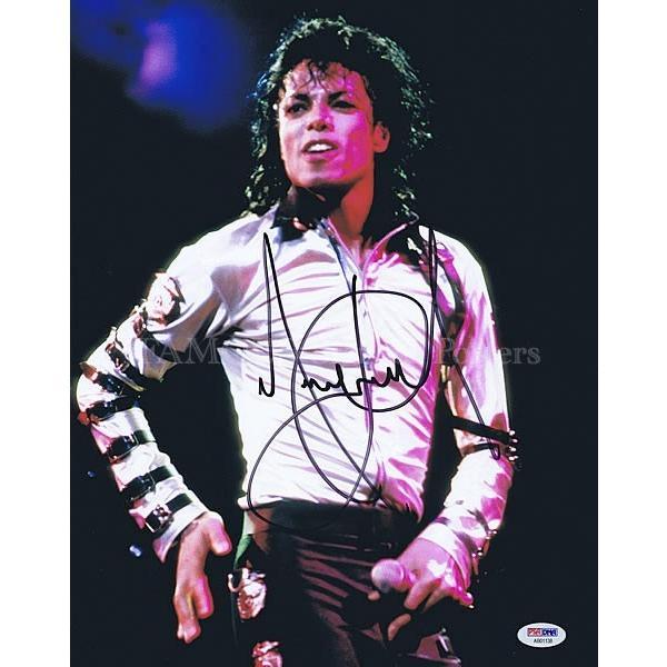 直筆サイン入り写真 スリラー ABC 等 マイケルジャクソン Michael Jackson グッズ /ブロマイド オートグラフ /鑑定済 フレーム付き|artis|03