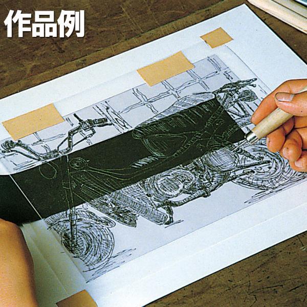 [ ゆうパケット可 ] 透明硬質PET板 ペット樹脂 小 【 凹版 版画 ドライポイント 樹脂 】|artloco|02