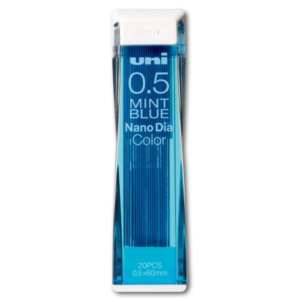 [ ゆうパケット可 ]  uni シャープ替芯 ナノダイヤ ミントブルー 0.5 20本入 【 製図 下書き ユニ 】|artloco