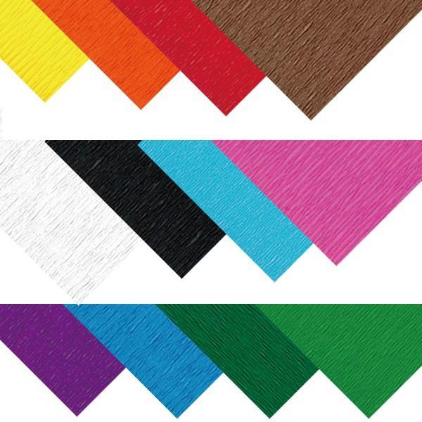クレープ紙 20枚入 12色展開 【 造形 クレープ紙 和紙 製作 】|artloco