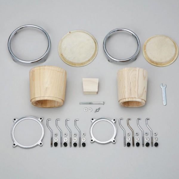 HOSCO ホスコ ミニボンゴ 組立キット BO-KIT-1 【  工作キット 楽器 手作り ボンゴ 】|artloco|02