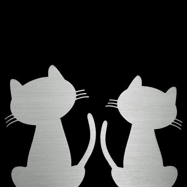 表札 ステンレス表札 おしゃれな猫の表札 アクリル表札 戸建 H11|artmark|04