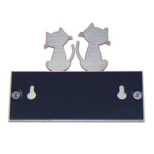 表札 ステンレス表札 おしゃれな猫の表札 アクリル表札 戸建 H11|artmark|05