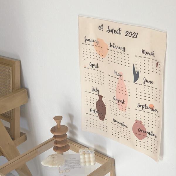 カレンダー ファブリック