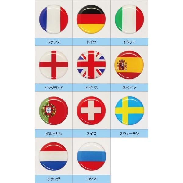 【3Dステッカー】国旗ステッカー 丸型Bタイプ小サイズ〈ヨーロッパ地区 11カ国〉 artpop-shop 03