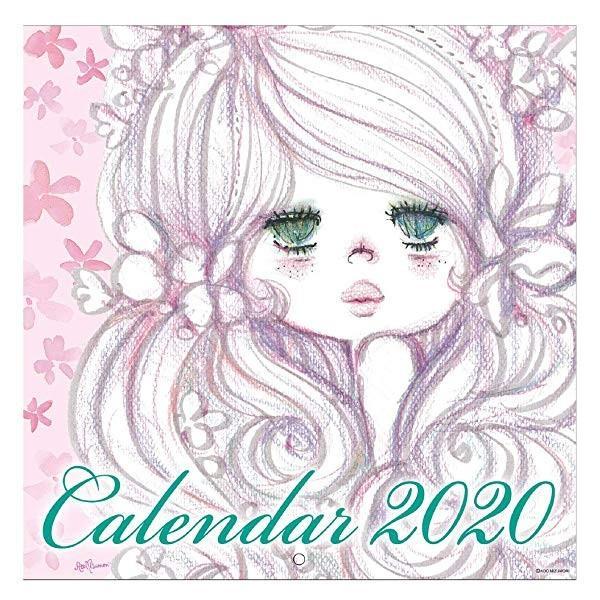 【水森亜土】2020年 壁掛けカレンダーL ウォールカレンダーL あどちゃん 亜土ちゃん artsalonwasabi