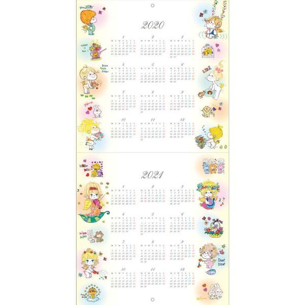 【水森亜土】2020年 壁掛けカレンダーL ウォールカレンダーL あどちゃん 亜土ちゃん artsalonwasabi 02