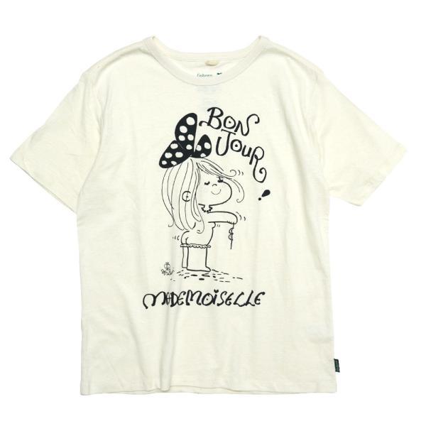 【水森亜土】ヘンプ&オーガニックコットンTシャツ<ナチュラルホワイト><Mサイズ><半袖> ゆったり 大人かわいい 大人カジュアル イラスト|artsalonwasabi|05