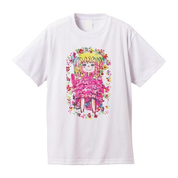 【水森亜土】《アートサロン和錆限定!》オリジナルTシャツ<ホワイト><M><L> 大人かわいい 大人カジュアル カラフル イラスト artsalonwasabi 02