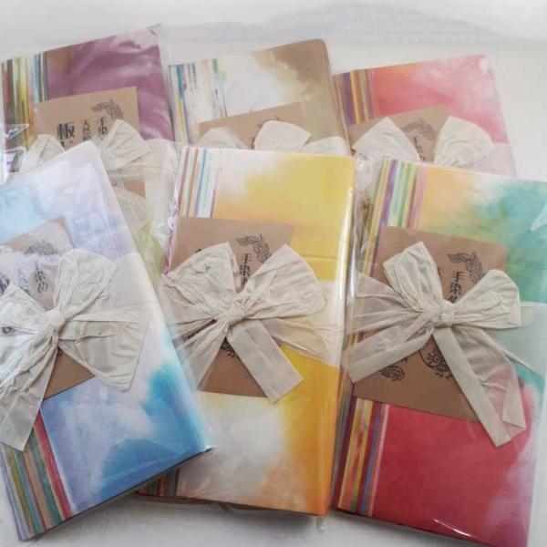 和紙 板じめ(グラデーション・ぼかし・カラー) 20cm×20cm お得な 色お任せ カラフル切り絵の和紙  artspring 02