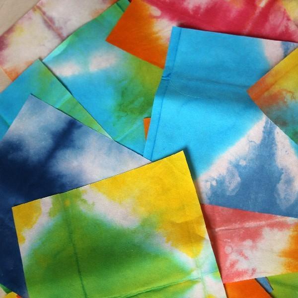 和紙 板じめ(グラデーション・ぼかし・カラー) 20cm×20cm お得な 色お任せ カラフル切り絵の和紙  artspring 04