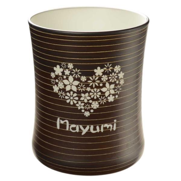 名入れ プレゼント 名前入り フリーカップ ギフト 有田焼 マレットグラス(錆千段)焼酎カップ  退職記念|arttech21