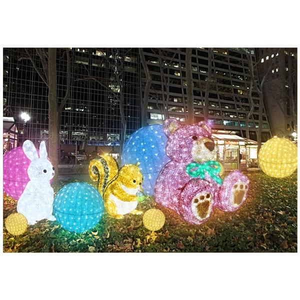 LED クリスタルグロー テディベア 特大/プロ施工用のテディベアイルミネーション3Dモチーフ/LEDモチーフライト|artworks|04